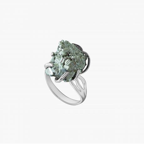 Серебряное кольцо с пиритом