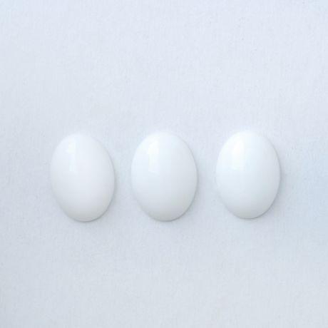 Кабошон  Агат белый Арт.КВ1318-2-2 13х18мм