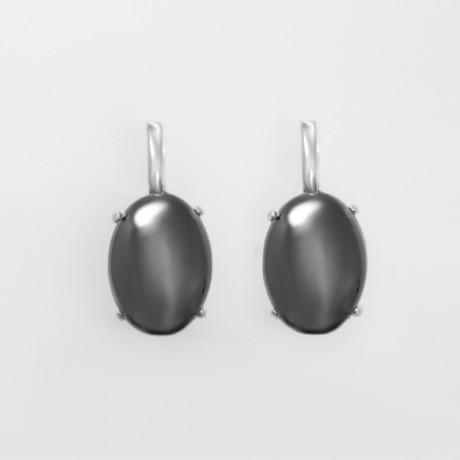 445044b38e60 Купить серебряные серьги с гематитом в Киеве, Украине - UVIZ