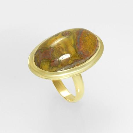 Золотое кольцо с яшмой