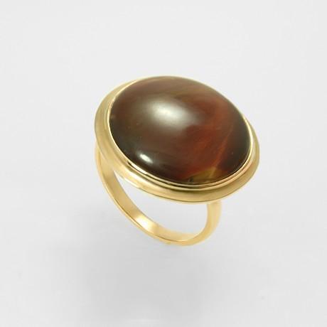 Золотое кольцо с бычьим глазом
