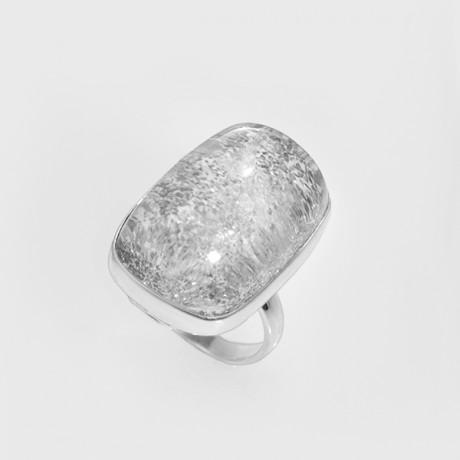 Серебряное кольцо кварцем