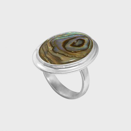Серебряное кольцо с перламутром гелиотисом