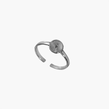 Серебряное кольцо разрезное тарелочкой Арт. М111-1