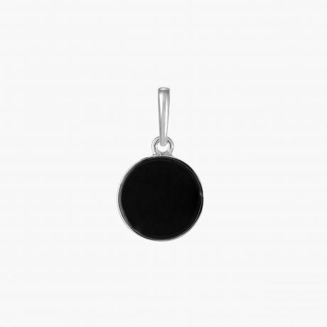 Серебряная подвеска с черным агатом