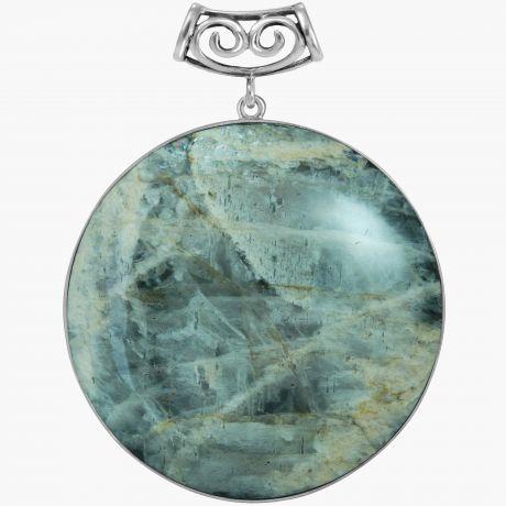 Серебряная подвеска с солнечным камнем