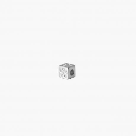 """Серебряная бусина разделитель """"Кубик"""" Арт. А200"""