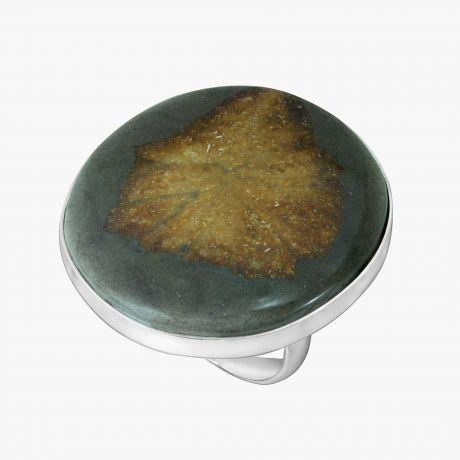 Серебряное кольцо с глендонитом