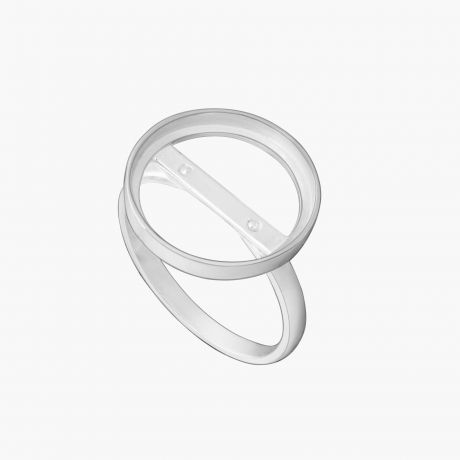 "Серебряное кольцо ""Круглый каст без поля Ø16"" Арт. Х22216К"