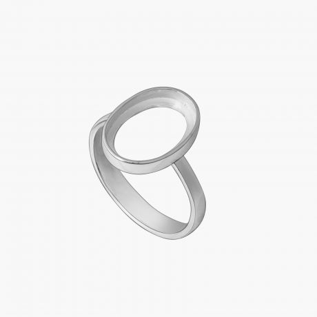 """Серебряное кольцо """"Каст без поля 10х14"""" Арт. Х2221014К"""