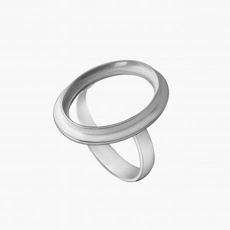 """Серебряное кольцо """"Поле 13х18"""" Арт. Х2201318К"""